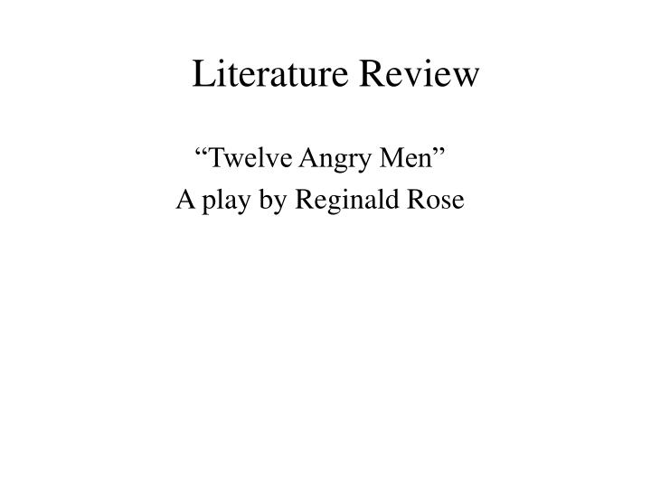 twelve angry men a critical review