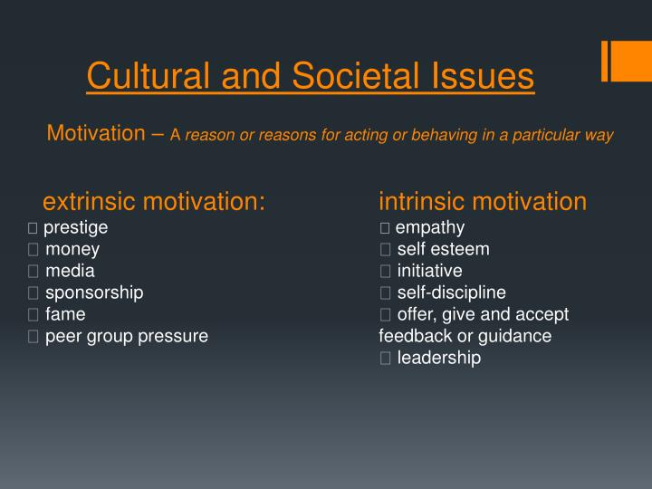 Cultural and Societal Issues