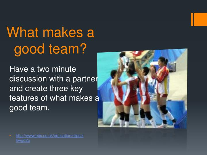 What makes a good team?