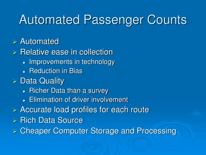 Automated Passenger Counts