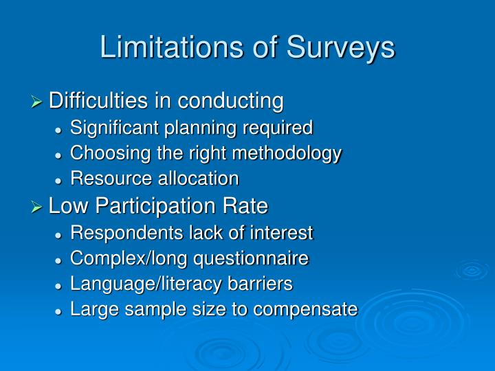 Limitations of Surveys