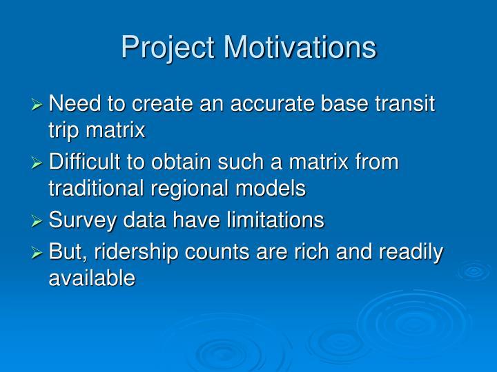 Project Motivations