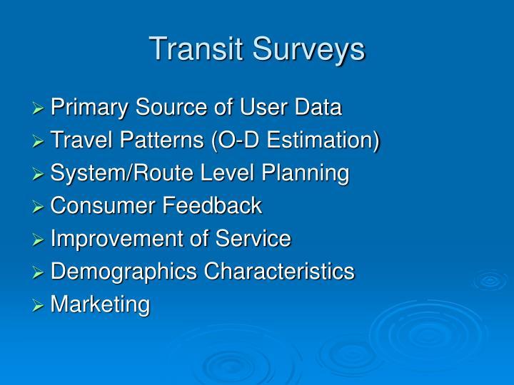 Transit Surveys