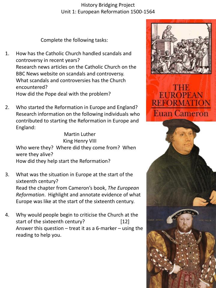 essay on the reformation of europe Read this essay on women in the reformation of europe come browse our large digital warehouse of free sample essays get the knowledge you need in order to pass your classes and more.