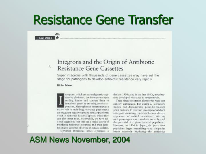 Resistance Gene Transfer