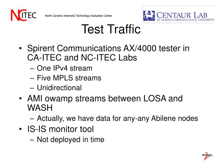 Test Traffic