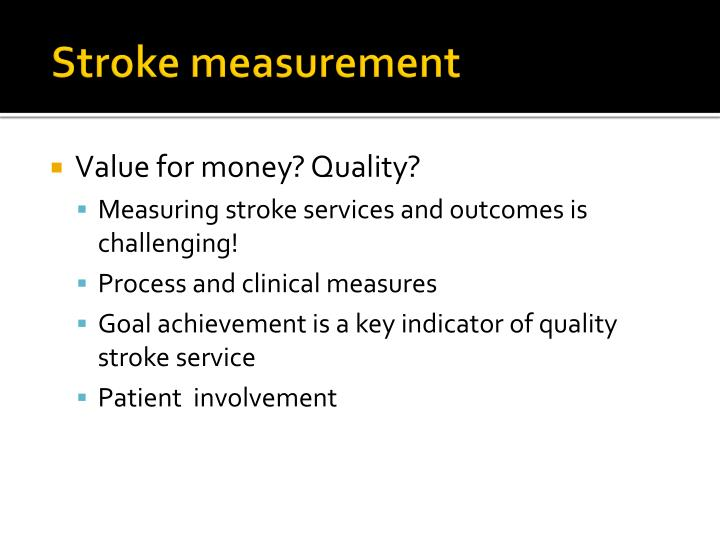 Stroke measurement