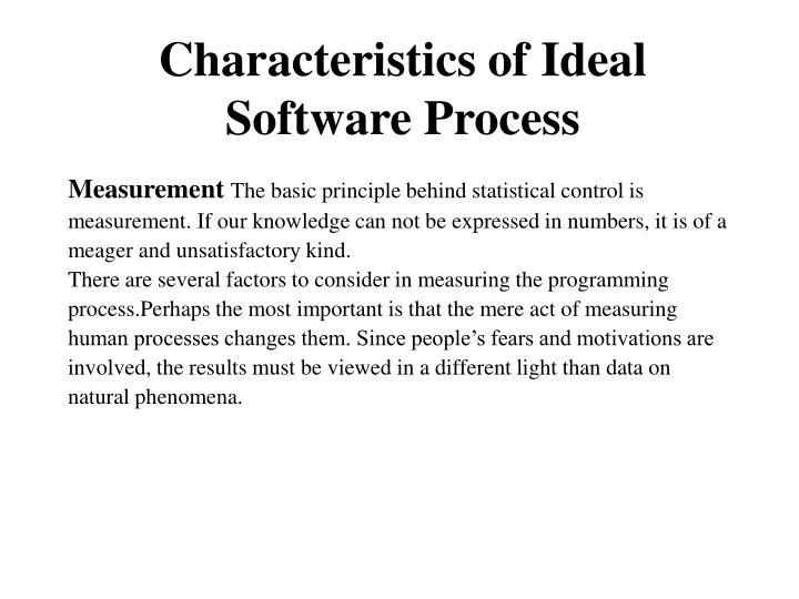 Characteristics of Ideal