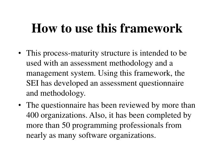How to use this framework