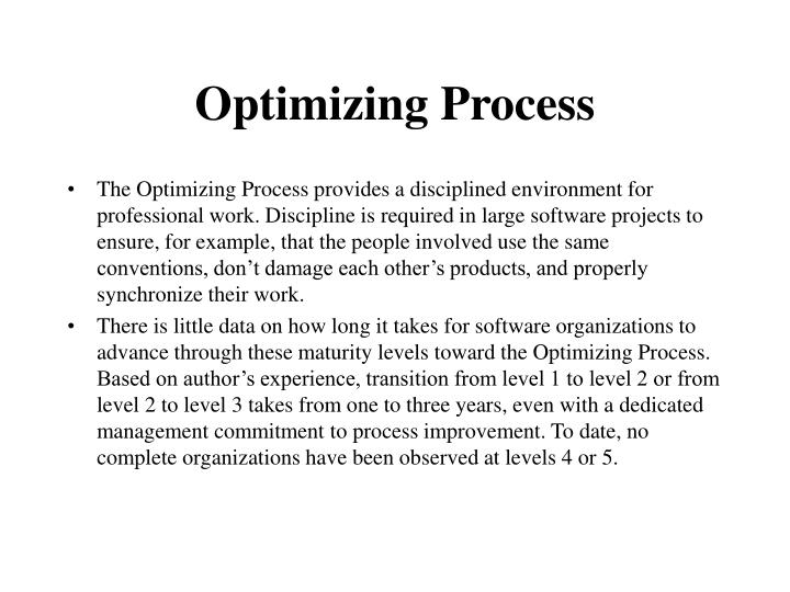 Optimizing Process