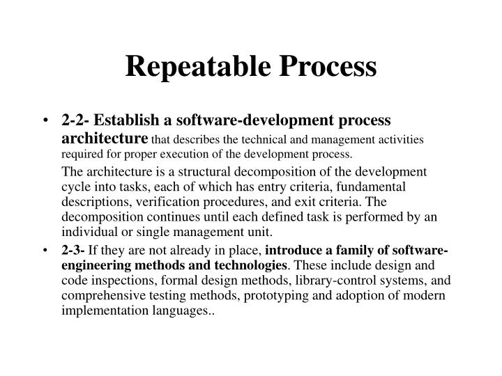 Repeatable Process