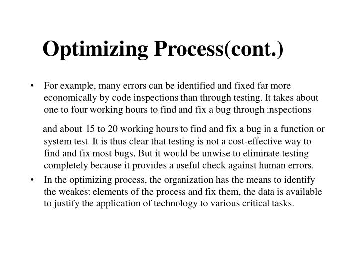 Optimizing Process(cont.)