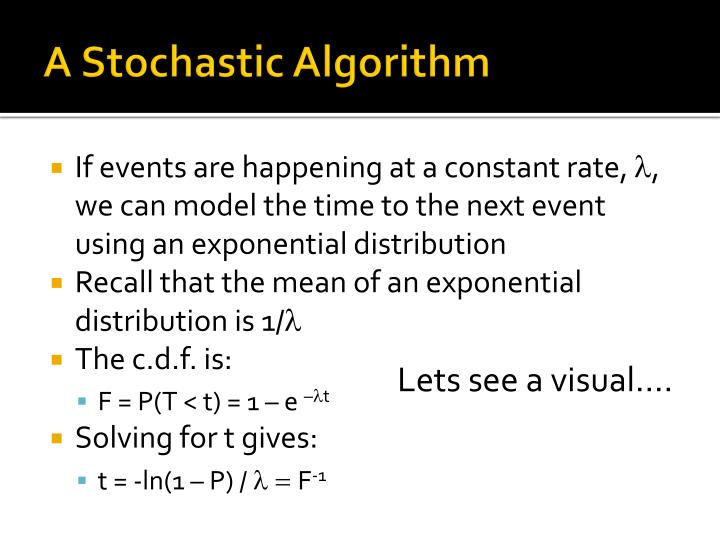 A Stochastic Algorithm