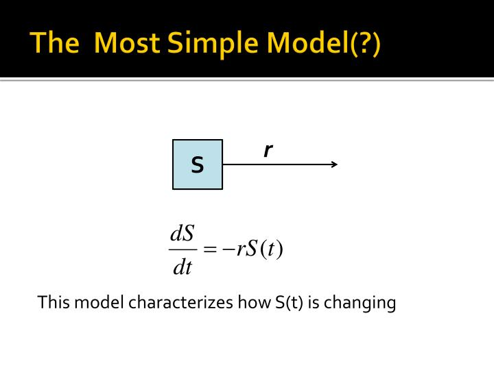The most simple model1