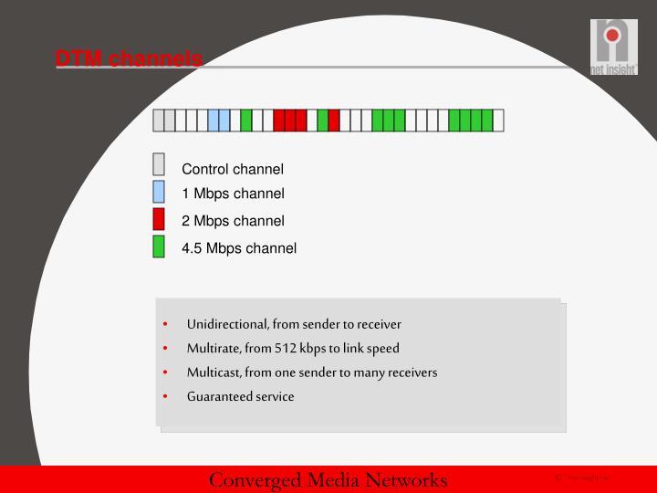 DTM channels
