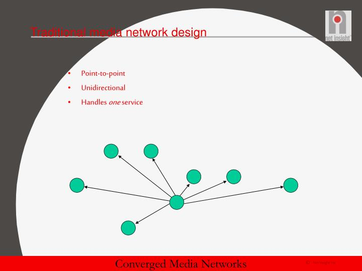 Traditional media network design