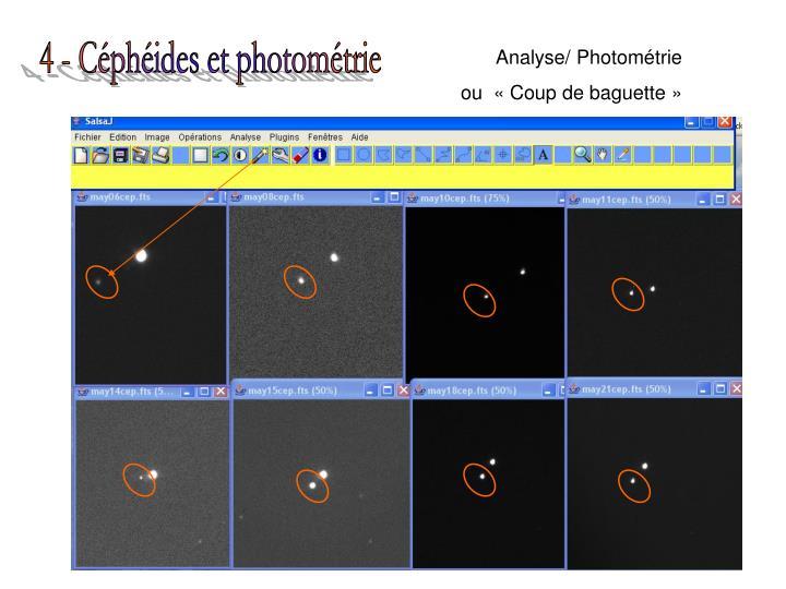 4 - Céphéides et photométrie