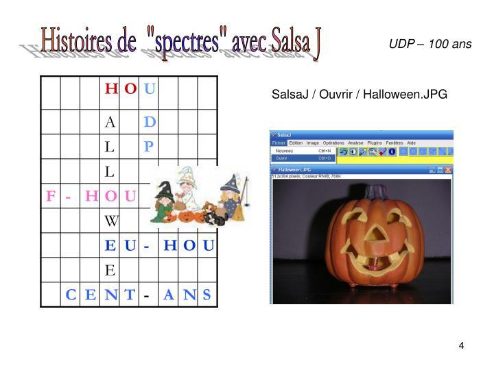 """Histoires de  """"spectres"""" avec Salsa J"""