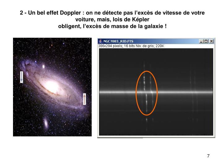 2 - Un bel effet Doppler: on ne détecte pas l'excès de vitesse de votre voiture, mais, lois de Képler