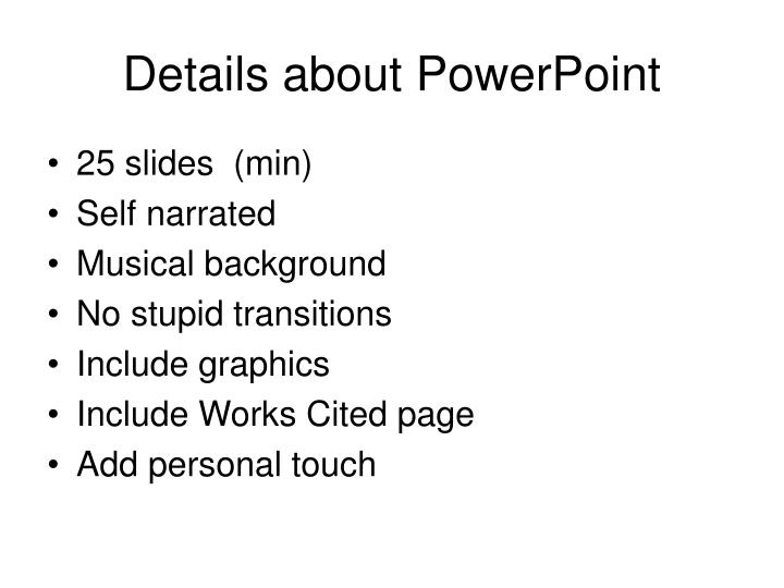Details about PowerPoint