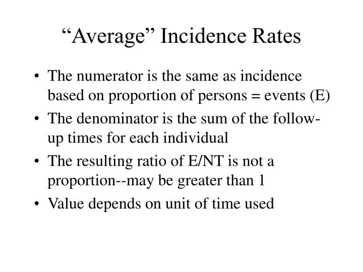 """Average"" Incidence Rates"