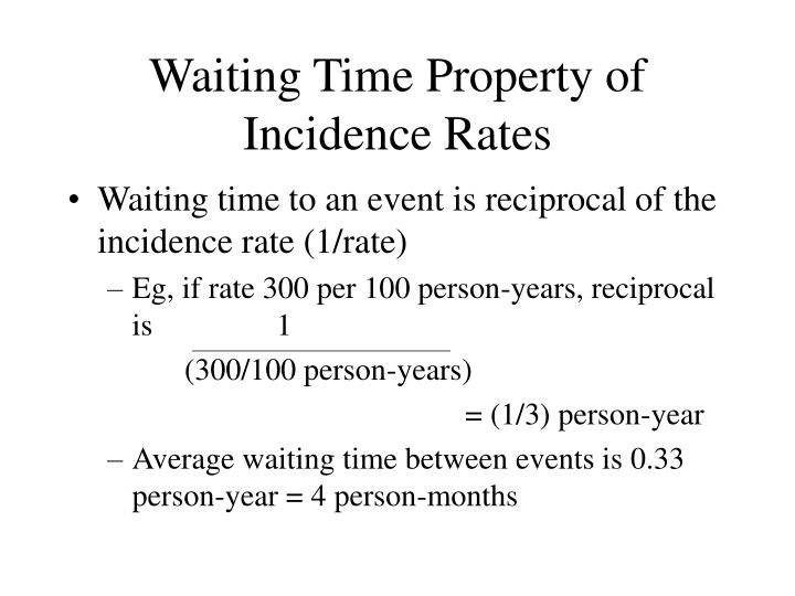 Waiting Time Property of Incidence Rates