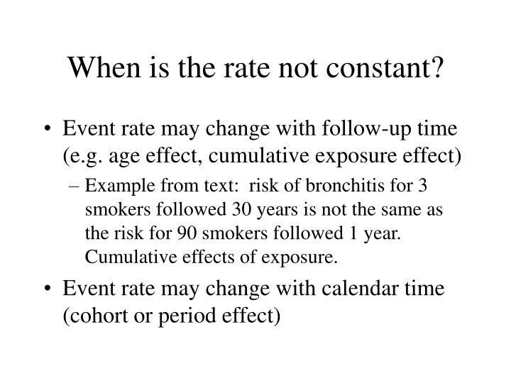 When is the rate not constant?