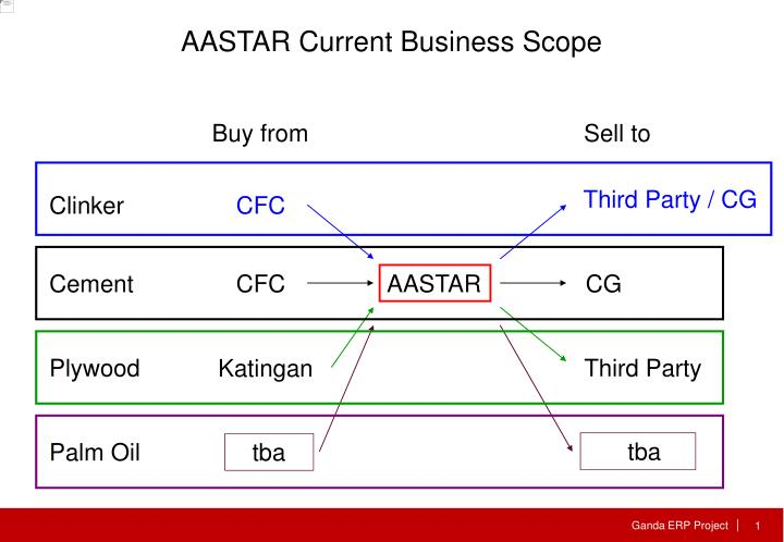 AASTAR Current Business Scope