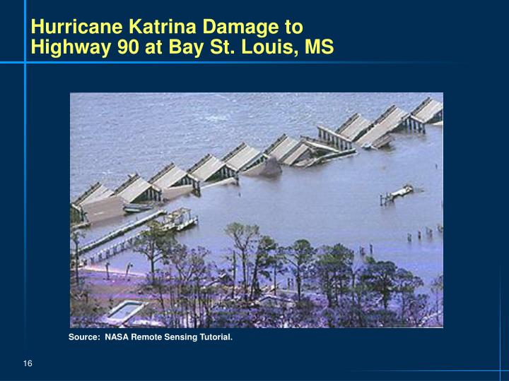 Hurricane Katrina Damage to