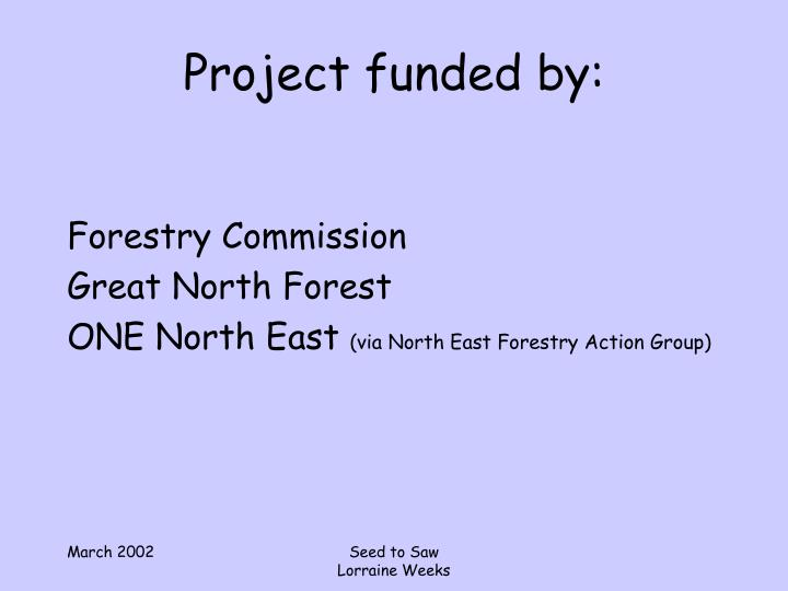 Project funded by: