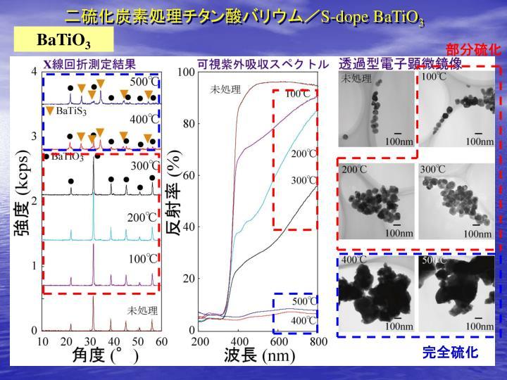 二硫化炭素処理チタン酸バリウム/