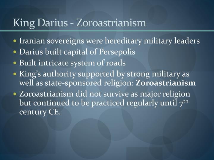King Darius - Zoroastrianism