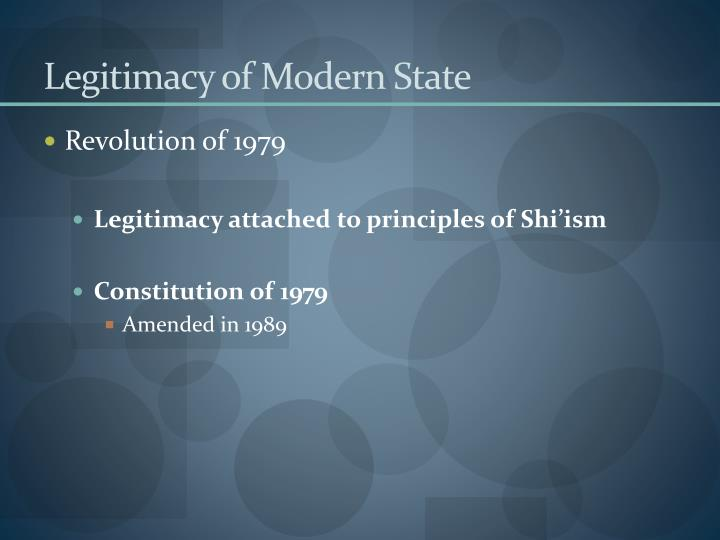 Legitimacy of Modern State