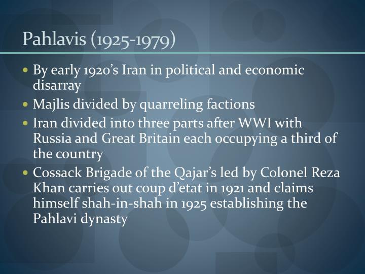 Pahlavis (1925-1979)