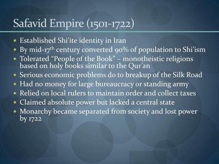 Safavid Empire (1501-1722)