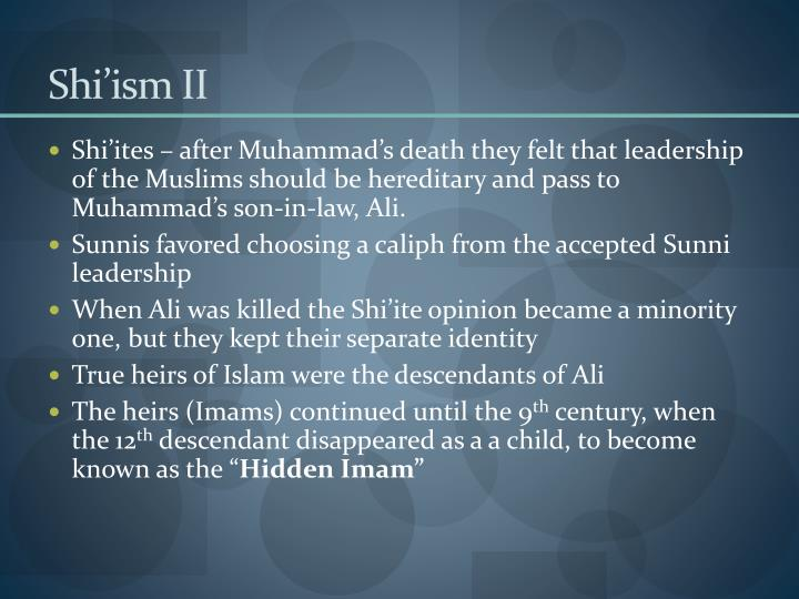 Shi'ism II