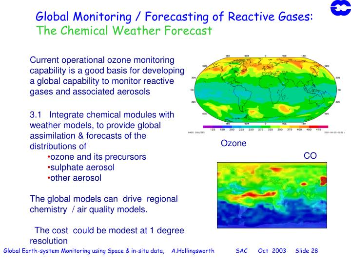 Global Monitoring / Forecasting of Reactive Gases: