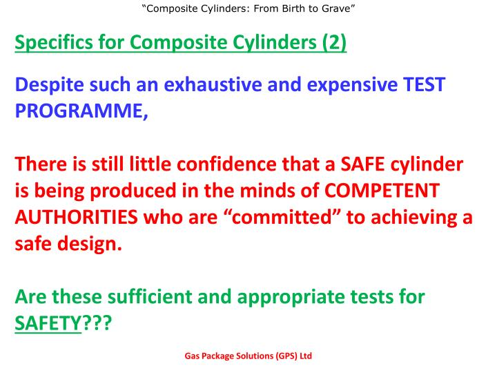Specifics for Composite Cylinders (2)