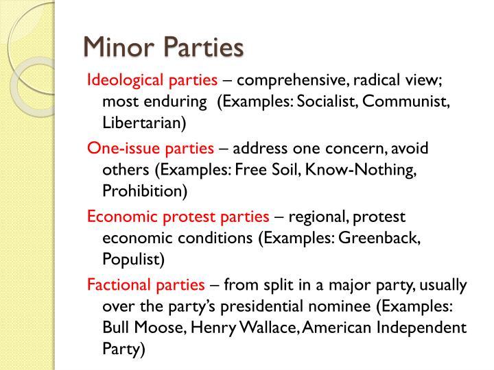 Minor parties