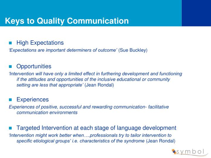 Keys to Quality Communication