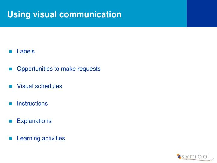 Using visual communication