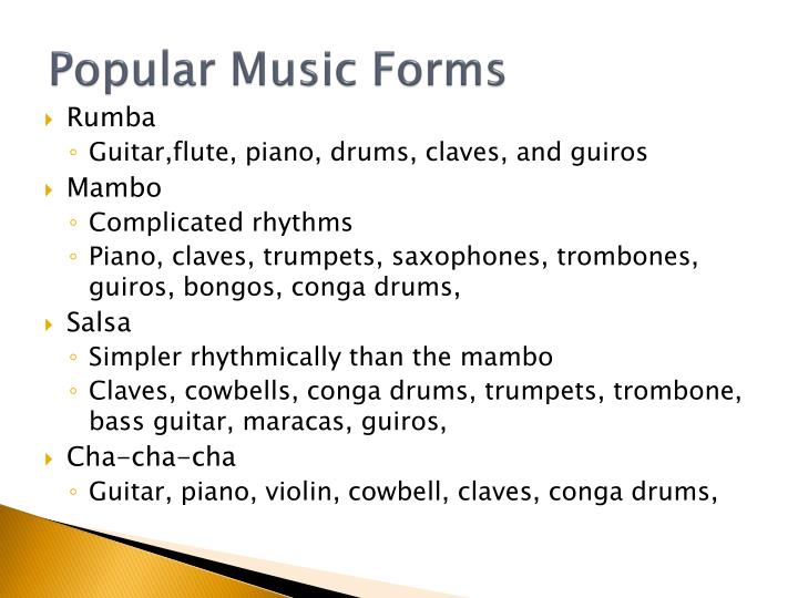 Popular Music Forms