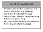 feedback from teams