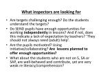what inspectors are looking for