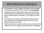 what ofsted are looking for