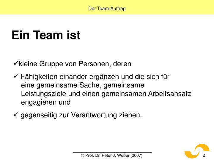 Der Team-Auftrag