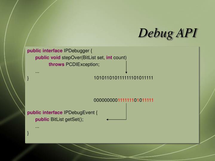 Debug API