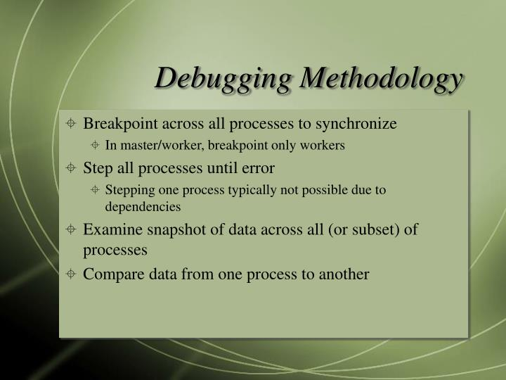 Debugging Methodology
