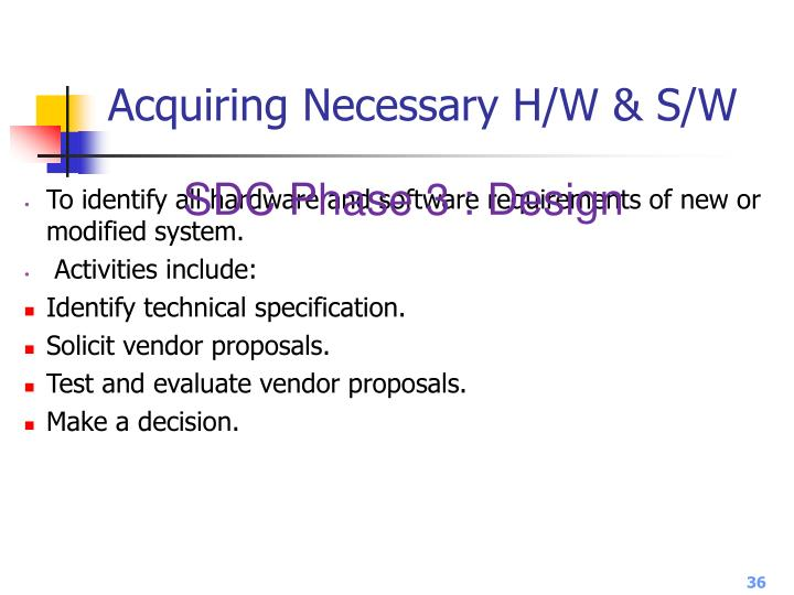 Acquiring Necessary H/W & S/W