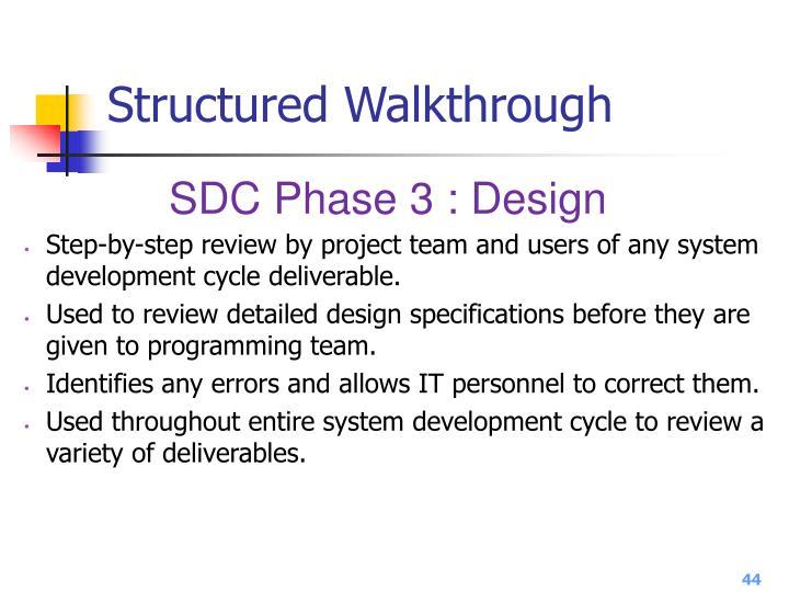 Structured Walkthrough
